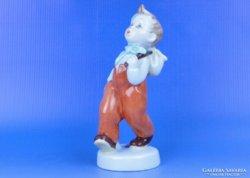 0D228 Jelzett Royal Dux porcelán kisfiú figura