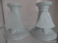 Kerámia gyertyatartó pár harang dekorral