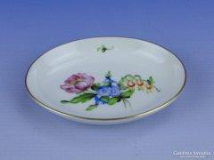 0D384 Virág mintás herendi porcelán tálka