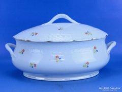 0D397 Régi ovális Meisseni porcelán leveses tál