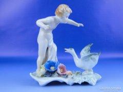 0D783 Antik ritka ENS porcelán szobor
