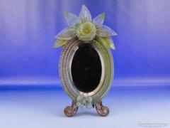 0D744 Antik Muránói üveg tükör
