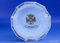 0D694 Régi osztrák porcelán hamutál WIEN