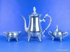 0D377 Ezüstözött réz 3 darabos teázó készlet