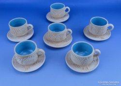 0D663 Korondi kerámia kávés készlet 6 személyes
