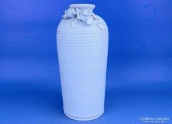 0D722 Retro fehér kerámia váza
