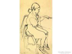 Barta Mária : Kislány masnival