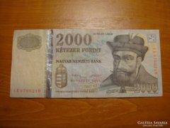 *** MATOLCSY  2013-as CB 2000 forint Ritka!!  ***