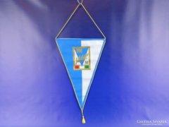 0D955 Címeres PM SC háromszög csapatzászló