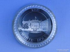 0D874 THE WHITE HOUSE üveg levélnehezék USA