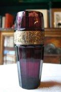 Walter & Sohne art deco ametisztüveg váza