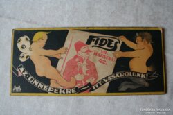 Fides reklám az 1940-es évekből