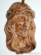 Jézus fej - fali kerámia szentkép