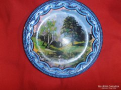 Szignózott  festmény Gránit tányéron
