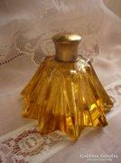 Antik, borostyán színű parfümös üveg