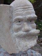 Nagyon ritka kő-szobor Atlasz jelz,.akár kertbe is