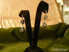 Gyémántos antik fülbevaló