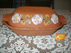Retro római tál, sütő edény cserépből