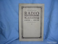 Rádió katalógus 1929-1930