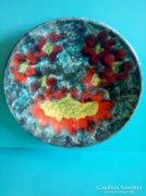 Kerámia Liszkay falitányér kedves mintával