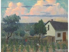 Joachim Ferenc, Csejtei : Szőlőben