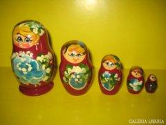 Matrjoska baba  5 bábus