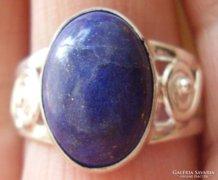 925 ezüst gyűrű, 18,9/59,3 mm, lápisz lazuli, szépséges