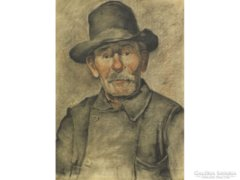 Vajda Ferenc : Idős férfi kalapban