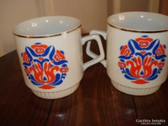 Zsolnay porcelán csészék (2db)