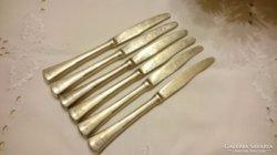 Ezüst desszertes kések (a penge is) 16 cm.