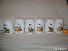 Hat darabos fűszertartó készlet