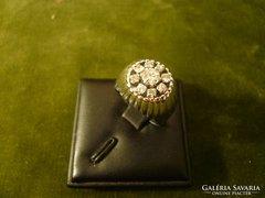 Art deco fehérarany brilles karmazált gyűrű
