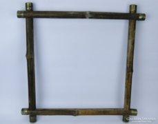 0C256 Antik bambusz képkeret tükörkeret 40 x 40 cm