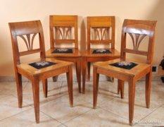 4 db. Biedermeier cseresznye szék