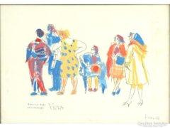 Fiora Margit : Várakozók 1936
