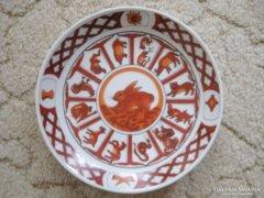 Porcelán falitál - állatos - 16 cm átmérő