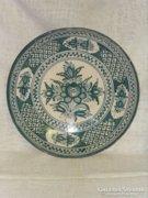 Majolika kínáló tál - asztal közép ( kézi festésű )  ( 0032