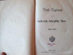 Szolgálati szabályzat 1873 első kiadás LEÁRAZTAM