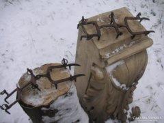 Régi osztrák ,hegyi vadász   jégmászó, kovácsolt  talpak  mester jeles ,használva még nem volt