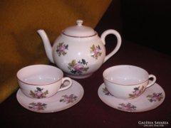 Zsolnay  kiöntő két teás   csészével