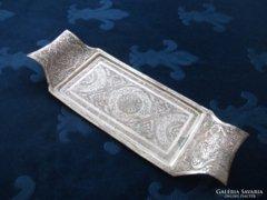 Isfahan Perzsa antik ezüst berakásos tálca