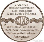 125 éves Budapest - MKB emlékérme