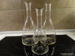 Metszett, hántolt borosüvegek, hutaüveg