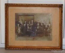 Ritka fénykép cigány roma kávéházi zenészek