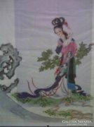 AKCIÓS LEÁRAZÁS! Eredeti kínai festmény-selyemre festett/7