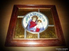 Egyedi szent kép Theotokos Mária és Jézus festmény