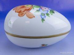 0E052 Nagyméretű herendi porcelán tojás bonbonier
