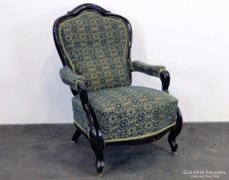 0E200 Antik neobarokk karfás fotel