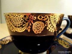 Lomonosov teáskészlet, teás készlet, hibátlan, kézzel festett