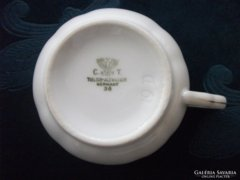 1936 Birodalmi sassal Carl Tielsch Altwasser  teás csésze egyedi virágmintával